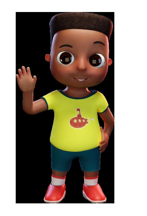 a small negro boy waving hi at us